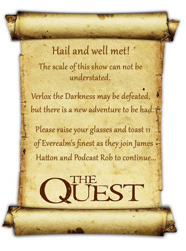 5 years ago, #TheQuest premiered on ABC.  3 years ago, we got to talk to a bunch of them, and to this day, it is the most ambitious episode we've ever done. The fact so many of them came together to talk to us is still humbling to me.    #ContinueTheQuest