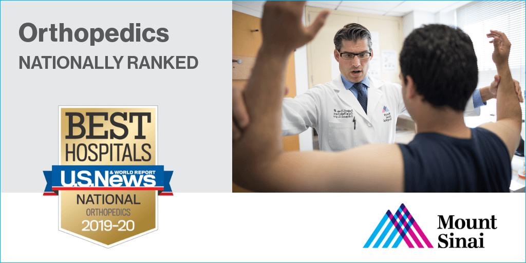 Mount Sinai Orthopedics & Sports Medicine (@sportsmednyc) | Twitter