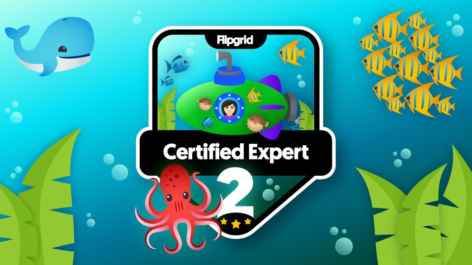 Yippee! I am excited to rock my new @Flipgrid Level Two Certified Expert badge! #FlipgridFever