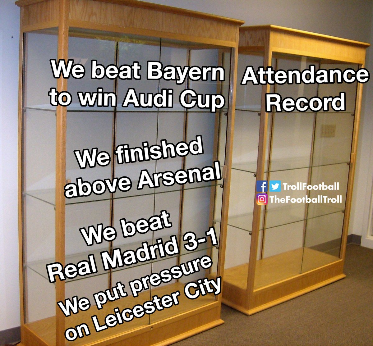 Troll Football On Twitter Tottenham S Updated Trophy Cabinet Finally A Real Trophy