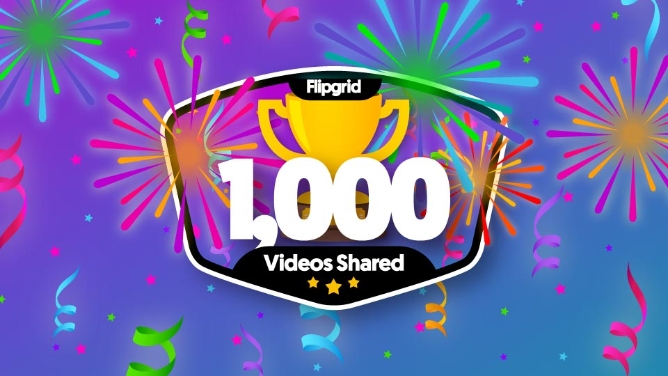 I just earned a new @Flipgrid badge: 1,000 Response videos! I'm a champion of student voice.