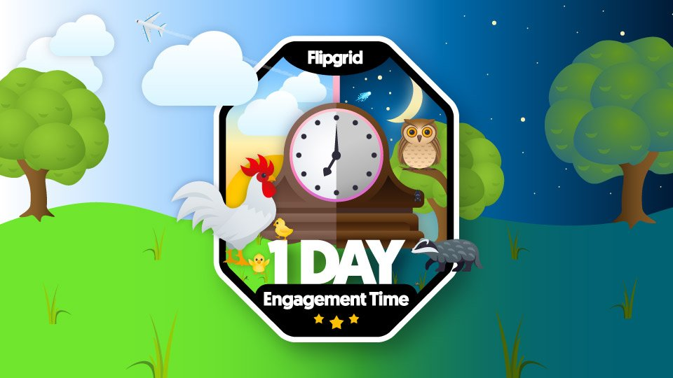 I am excited to rock my new @Flipgrid Rock Around the Clock badge! #FlipgridFever
