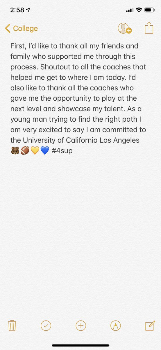 Committed #4sup 🐻💙💛🏈