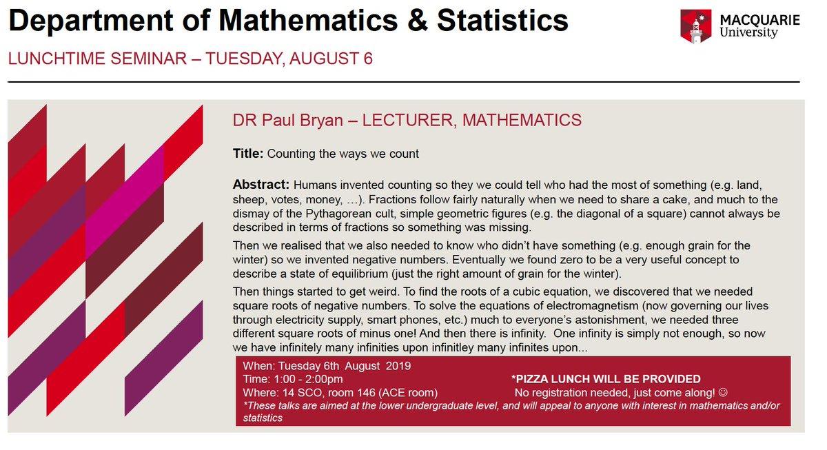 MQ Maths Stats MQMathsStats Twitter