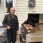 Our Haven House Summer BBQ today on the patio - with our Building Manager Murray behind the grill. Thanks to all our Haven House residents and families for enjoying the afternoon with us! #summerbbq #friendswholunch #augustinehouse #forbetterretirementliving