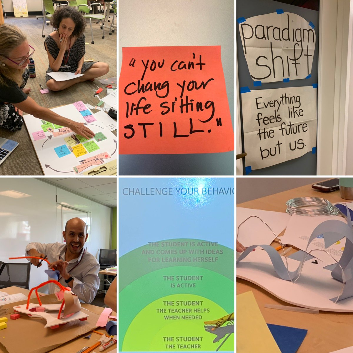 @hgse #profedLEFT challenged assumptions w purposeful play w @RosanBosch inspired thinking all day!