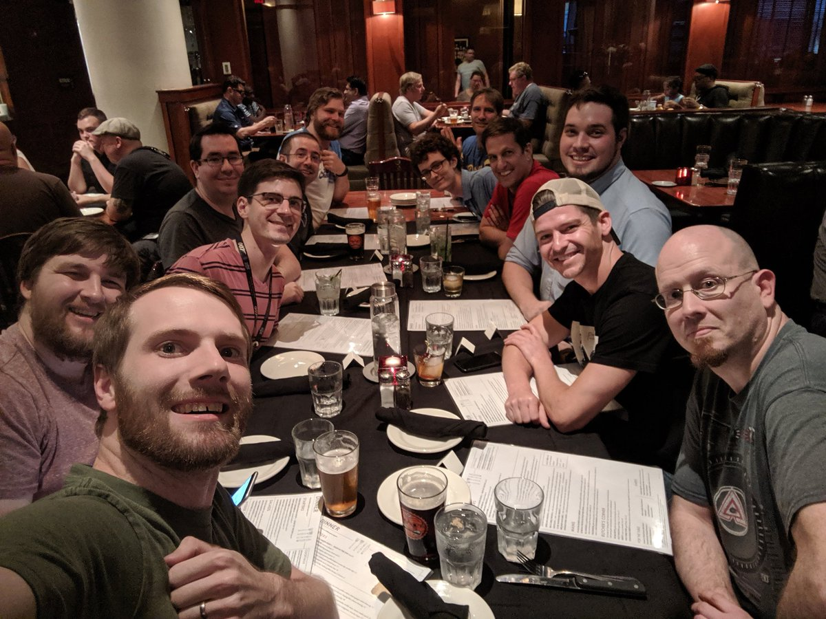 Dinner with the SCPT Discord. A perfect way to kick off #GenCon2019!