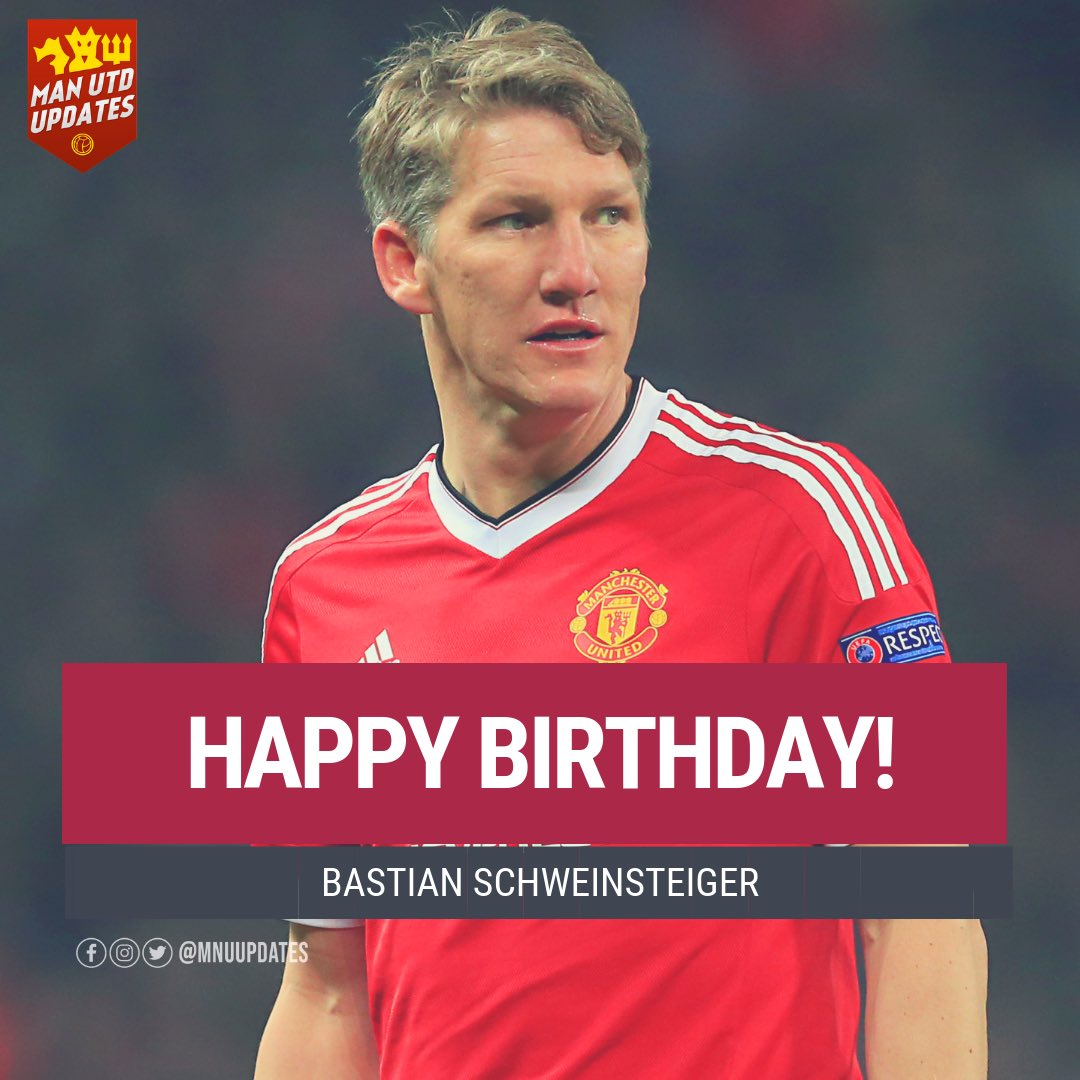 Happy 35th birthday to ex red Bastian Schweinsteiger.