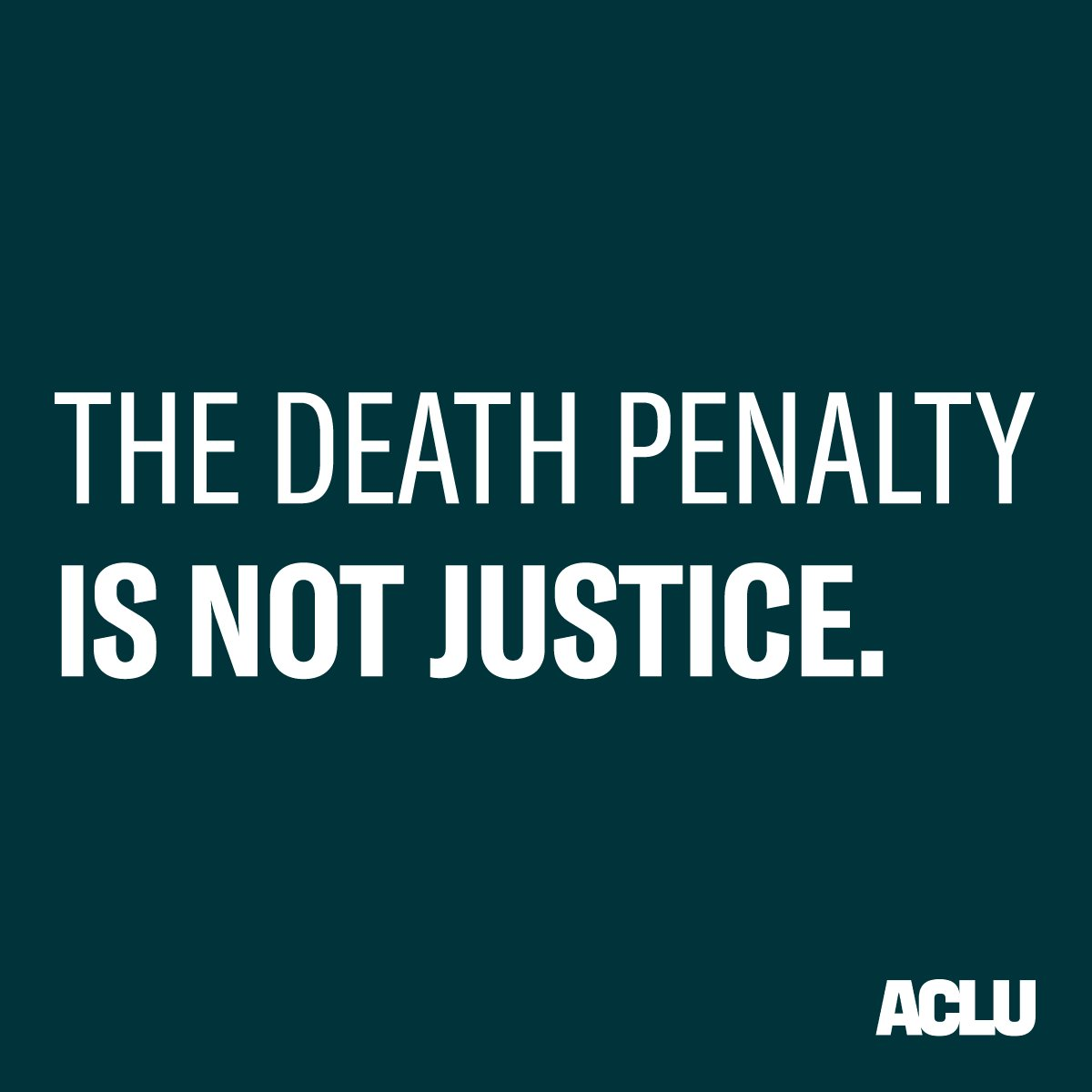 REMINDER: The government shouldn't have the license to execute anyone.