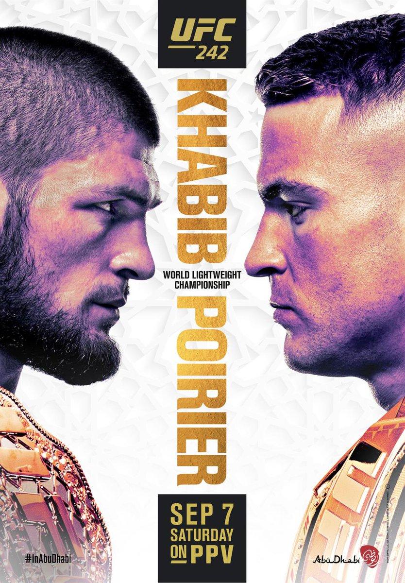 UFC 242 Khabib vs Poirier poster
