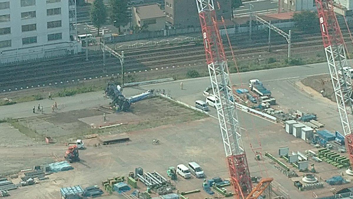 【横転事故】高輪ゲートウェイ駅でクレーン車倒れる|東京都 ...