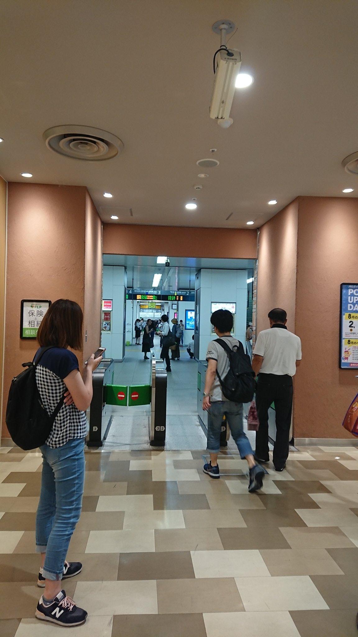 稲毛駅で人身事故が起きた構内の画像