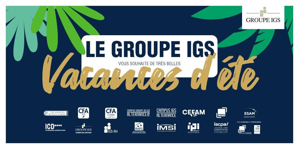 Le Groupe IGS vous souhaite de bonnes vacances 😎 ! Bon courage à ceux qui travaillent