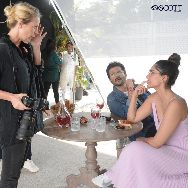 #Throwback to the #ShootDiary. Fun-filled experience with our very own @anilskapoor and @sonamkapoor getting picturesquely shot ready.  @AnilKapoor  @sonamakapoor #ShootDiaries  #BTS #behindthescenes #Fun #ScottEyewearXAKSK #ScottSunnies #ISeeYou #AnilKapoor #SonamKapoor