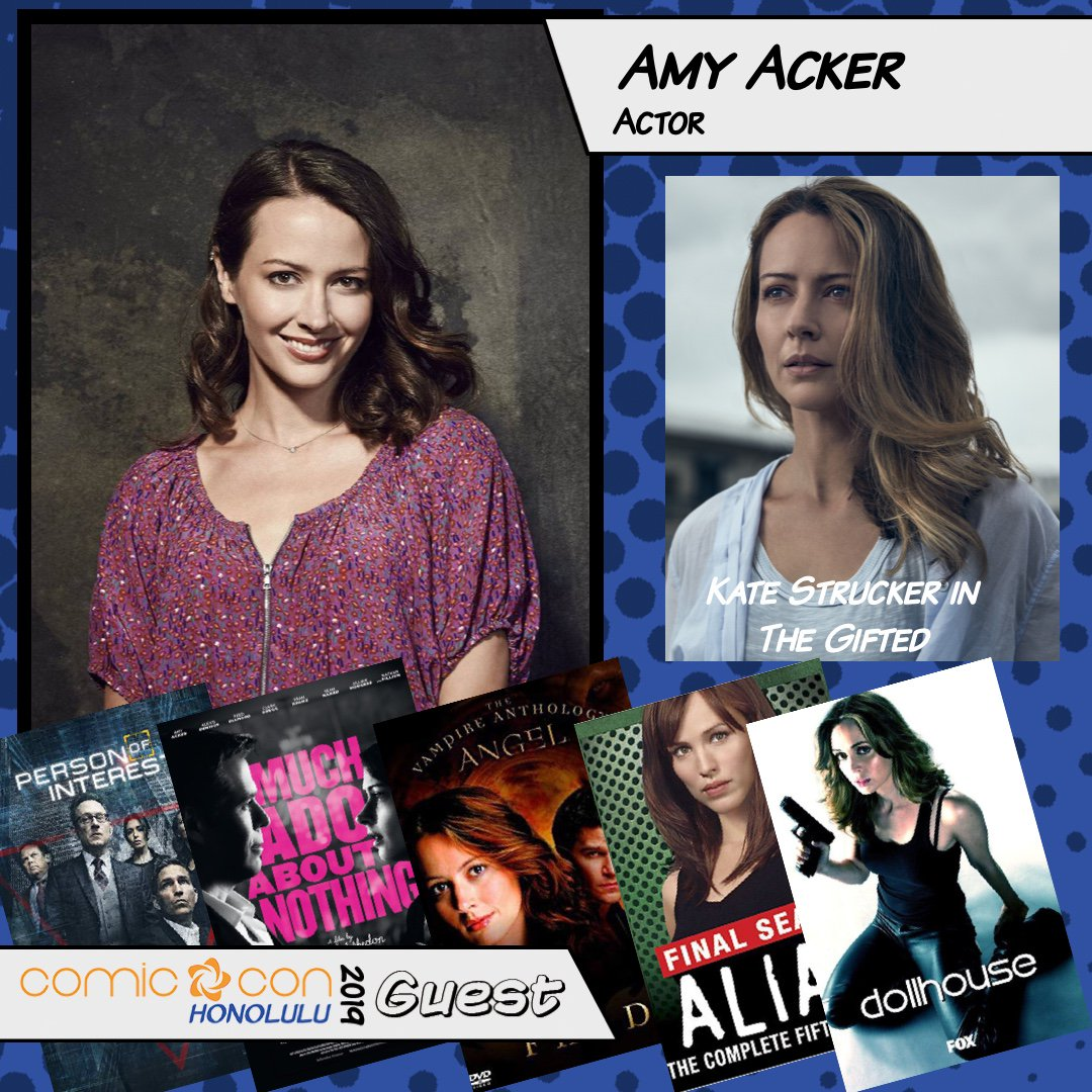 Surprise! You'll be able to meet Amy Acker and Jason Dohring this weekend at Comic Con Honolulu! Amy Acker is Fred in Angel, and Kate in The Gifted. Jason plays Logan in Veronica Mars, Chase in iZombie and voices Terra in the Kingdom Hearts series! https://t.co/s0Ptg0TQGK