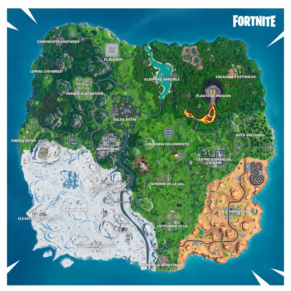 Mapa Fortnite Temporada 1.Fortnite Brleaks Es On Twitter Mapa De La Temporada