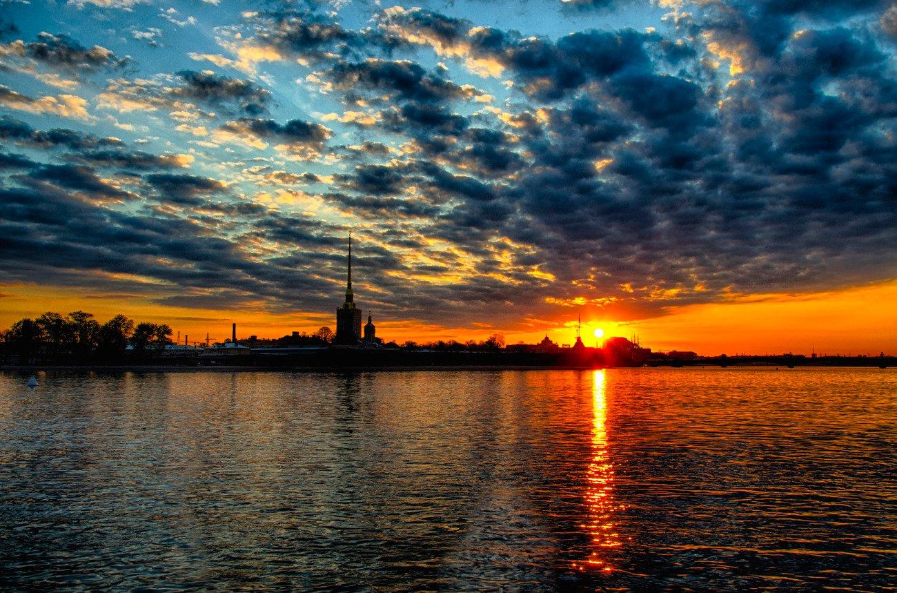фото закат солнца в питере мне