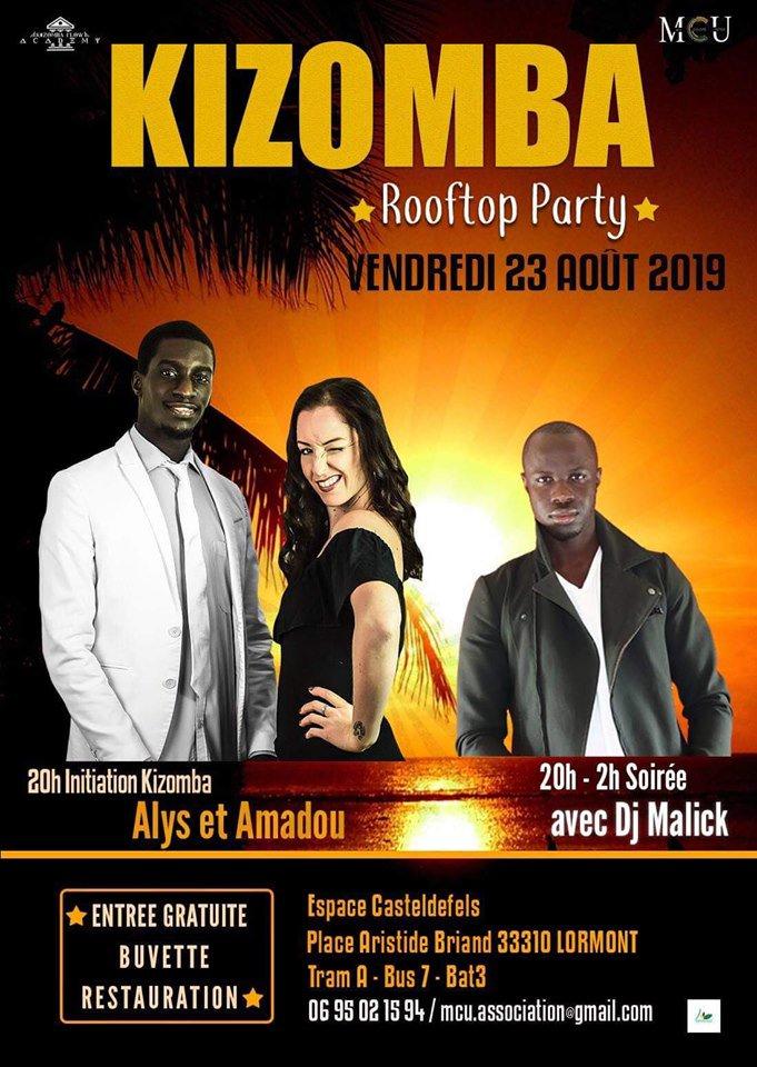 La soirée Bachata du 2 août dernier vous a plu ?Alors ne manquez pas la soirée #Kizomba sur le #rooftop de l'espace Casteldefels ce soir à partir de 20h ! #soirée #fête #Lormont #garonne #Gironde #association https://t.co/CgbOx9ByaT