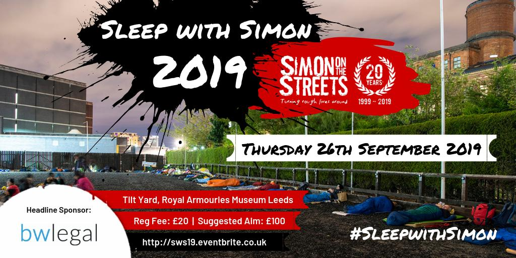 Join Simon on the Streets in our 20th year for our BIGGEST event of the year – Sleep with Simon! 👇eventbrite.co.uk/d/united-kingd…