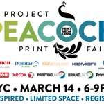 Image for the Tweet beginning: Project Peacock Print Fair; A