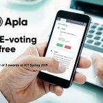 Image for the Tweet beginning: ✅Try Apla E-voting for shareholders