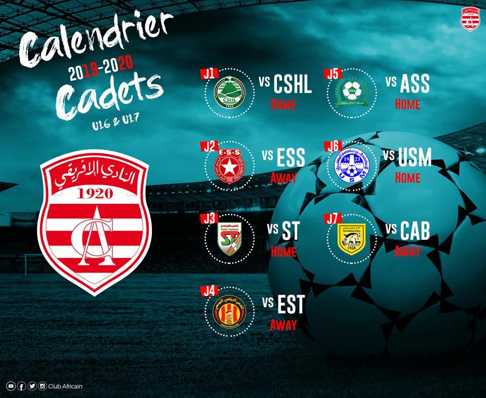 Calendrier Championnat Tunisien.Clubafricain Calendrier Clubiste Du Championnat Tunisien