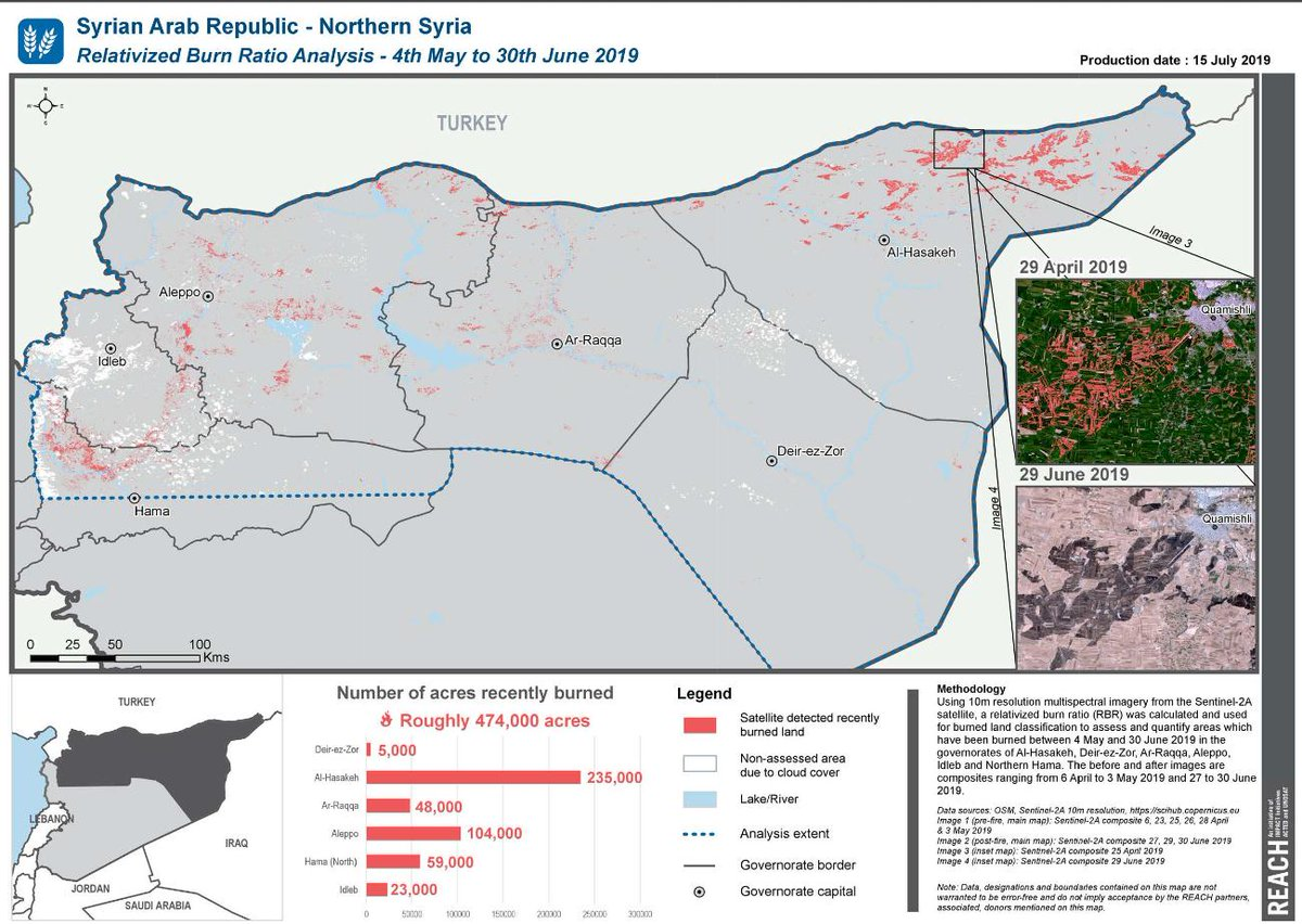 Detailed remote assessment of the crop fires in #Syria via @REACH_info