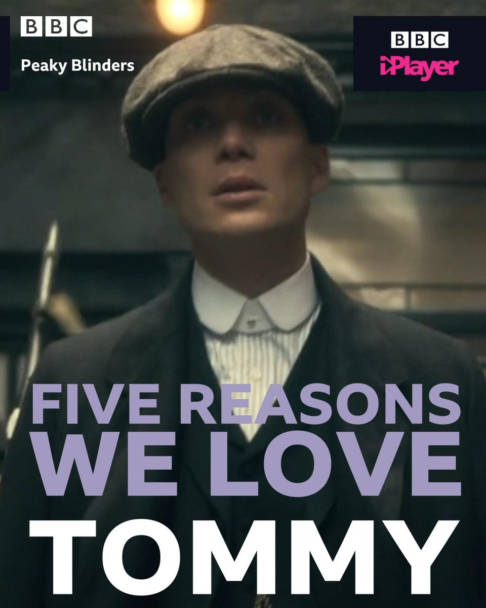 """I am just an extreme example of what a working man can achieve."" Here's five reasons we love the legendary Tommy Shelby… #PeakyBlinders"