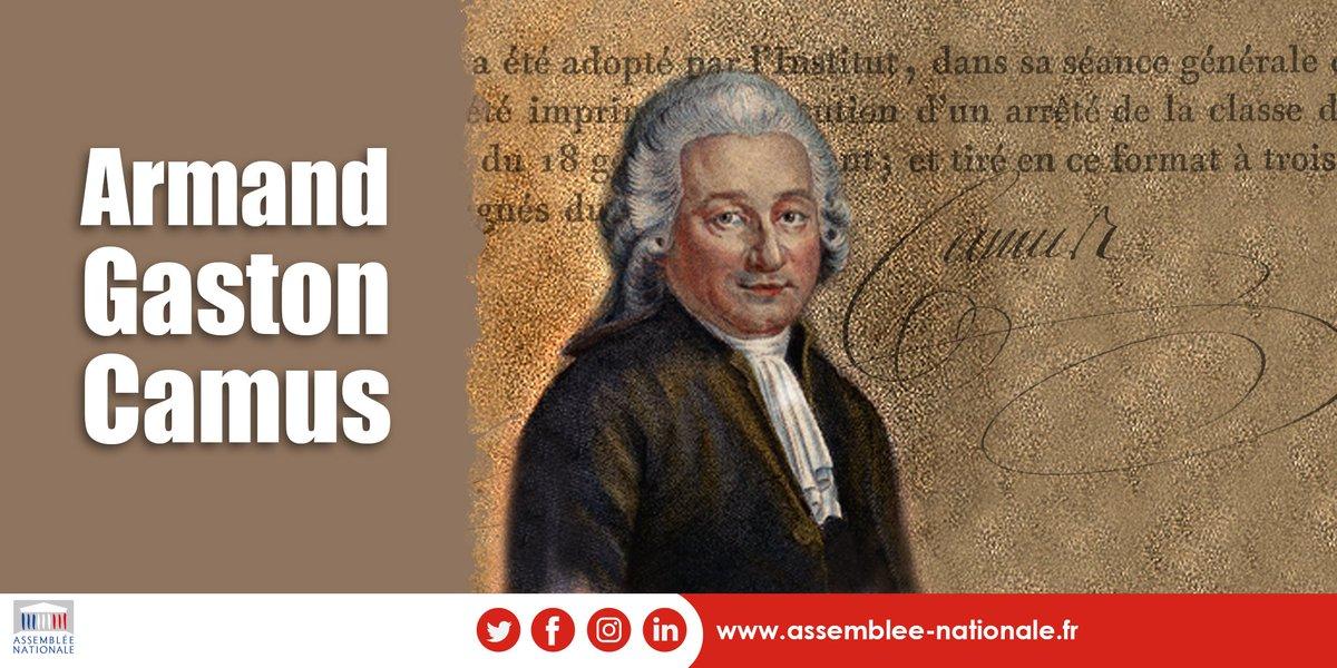 Il y a 230 ans, le 14 août 1789, Gaston Armand Camus, député de Paris, devenait le premier archiviste de lAssemblée nationale. Il sera à lorigine de la création des @ArchivesnatFr. #230ansRévolution #ArmandGastonCamus