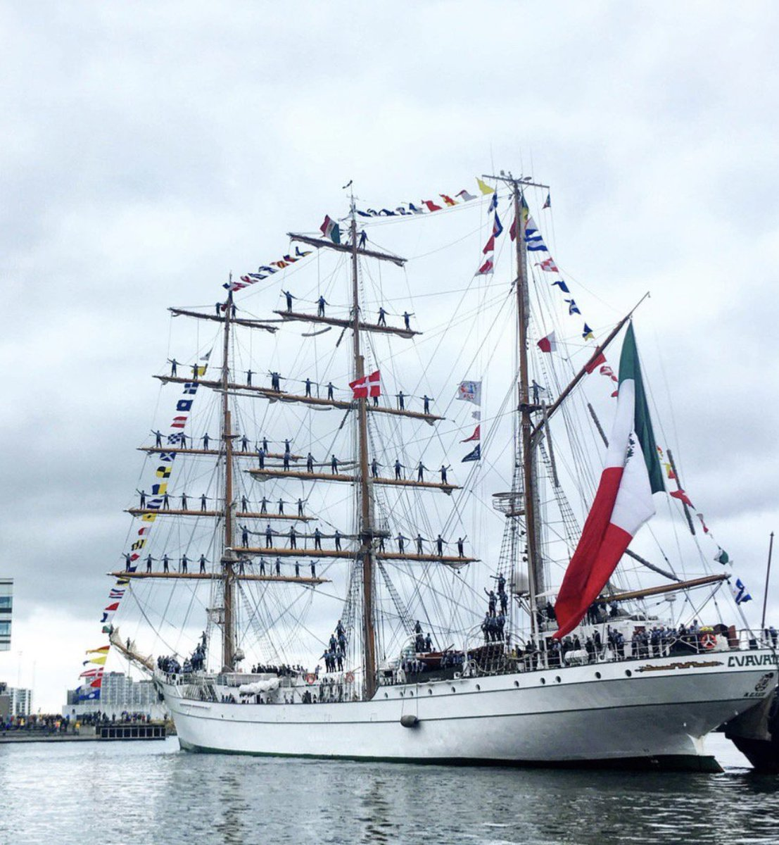 Aye aye, Captain! @TallShipsRaces grand finale 2019 sees the arrival today of the world's most magnificent sailing ships in #Aarhus for the city's biggest party of the year (and Denmark's biggest ferris wheel too!) 🎡 welcome to 🇩🇰@VisitAarhus everyone ⚓️