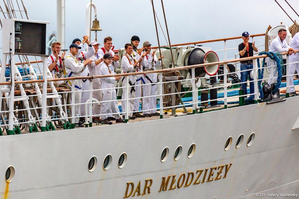Welcoming the fleet to Aarhus in fantastic Danish style! #TallShips #Sailing #TSR2019
