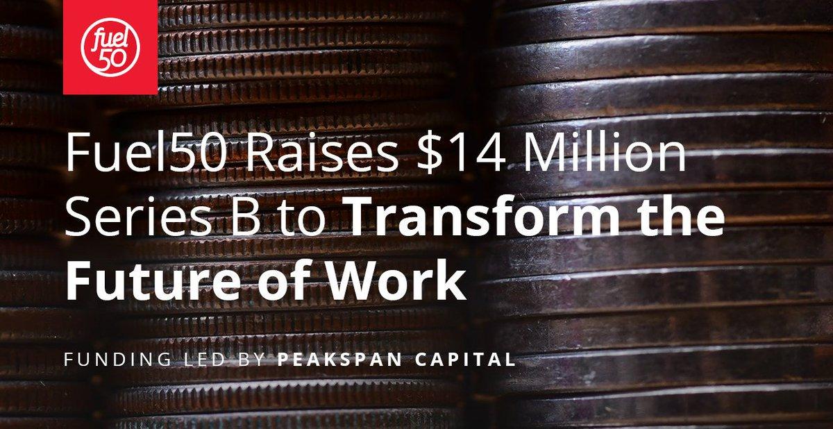Fuel50 Raises $14 Million Series B to Transform the Future of Work   Read the official press release via @BusinessWire  https://t.co/7yg2NBKm5u #Funding #EmployeeEngagement #CareerDevelopment https://t.co/wlMfXWjKsb