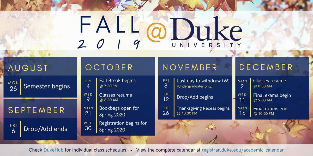 Uiuc Fall 2020 Academic Calendar Trinity College at Duke (@DukeTrinity) | تويتر