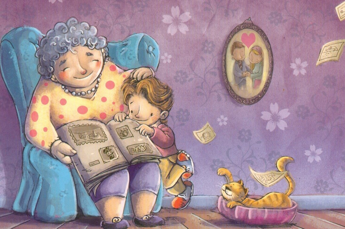 Свадьбе стихах, бабушка и внук картинки для детей нарисованные
