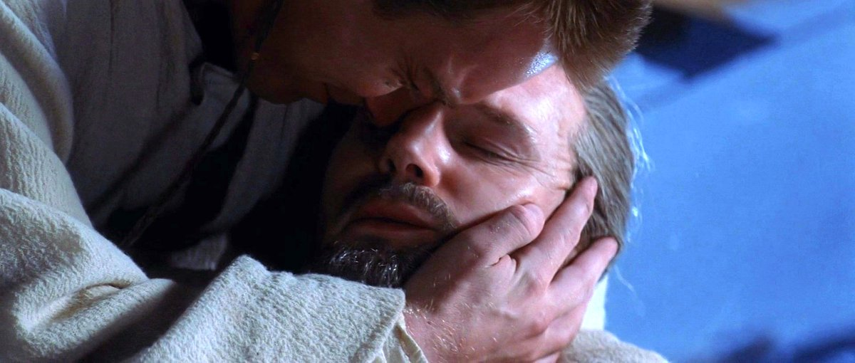 """""""""""Obi-Wan. Promise me you will train the boy."""" Obi-Wan nodded instantly, agreeing without thinking, willing to say or do anything that would ease the other's pain, desperate to save him. """"Yes, Master.""""""""  #BookQuoteoftheDay #ATKTPM<br>http://pic.twitter.com/Kr9CI0Afcw"""