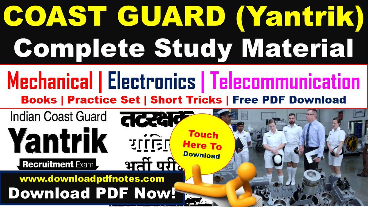 Coast Guard (Yantrik) Complete Study Material, Books