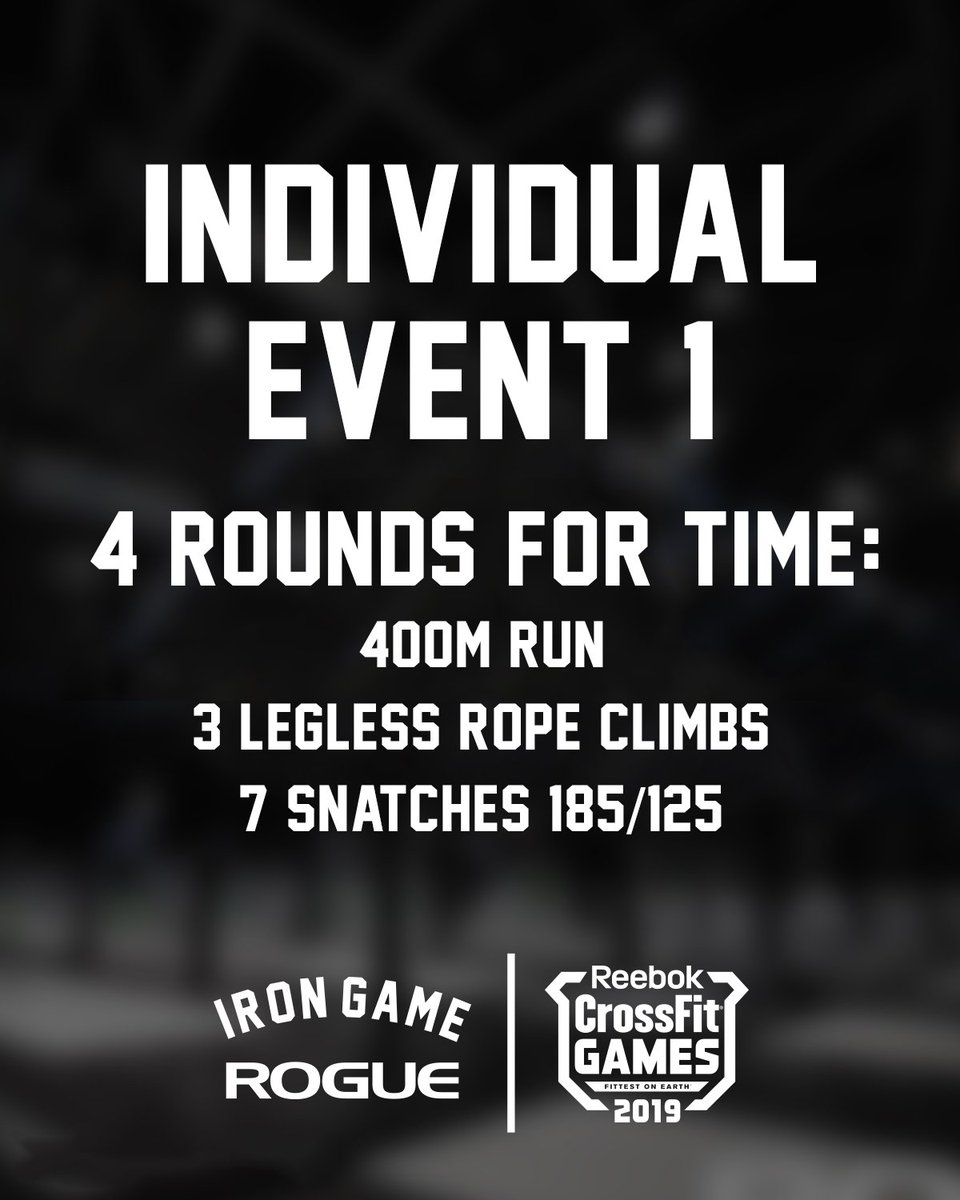 Image result for event 1 crossfit games 2019 rope