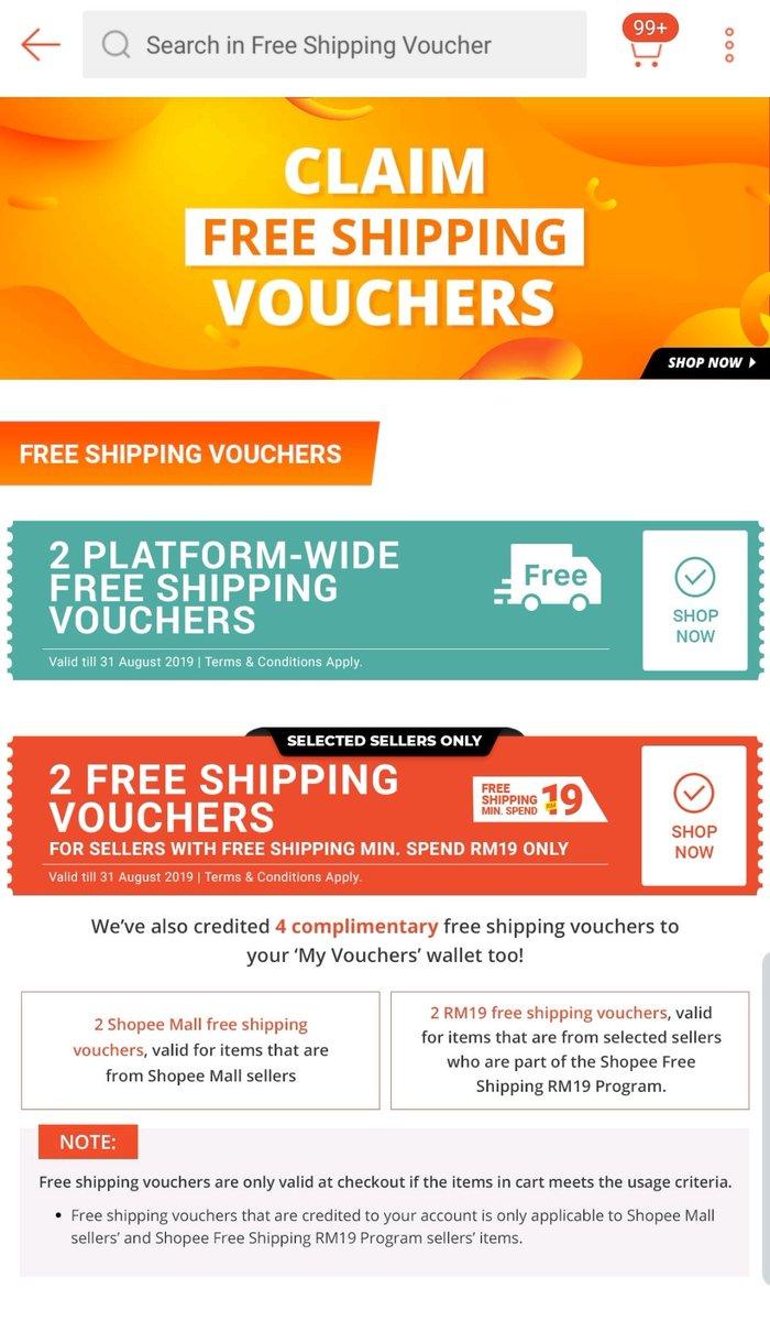 Whispered Din Pakaimask On Twitter I Tak Dapat Free Shipping On Shopee Dah Nowadays