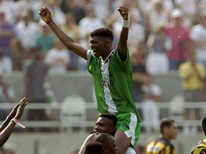 """Super Eagles legend, Nwankwo Kanu.    What is your favourite memory of \""""Papilo\""""? Happy birthday BOSS"""