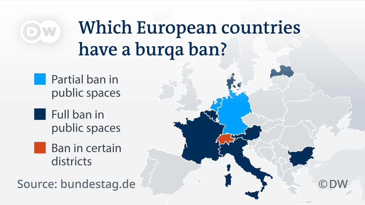 The Netherlands has put a limited burka ban into force. Here are the European countries that have had similar restrictions for years.
