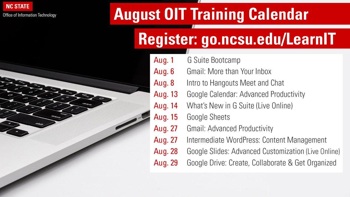 Ncsu Academic Calendar.Nc State Oit Ncstateoit Twitter