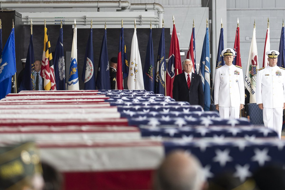 One year ago I had the honor of participating in the repatriation ceremony of fallen heroes returned home from North Korea. As the son of a Korean War Vet, I'm grateful for the hard work by @DeptofDefense  to identify 25 more heroes from the 55 boxes of remains. #LeaveNoManBehind