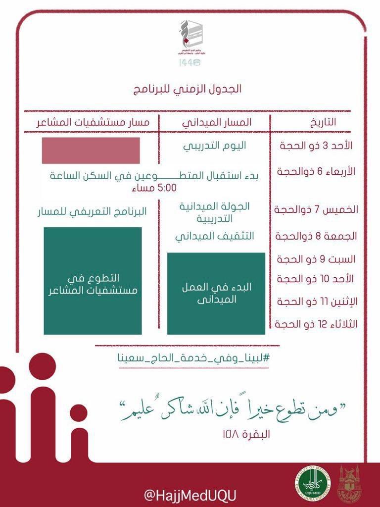 Hajj Volunteering Program @MedicalUQU (@HajjMedUQU) | Twitter
