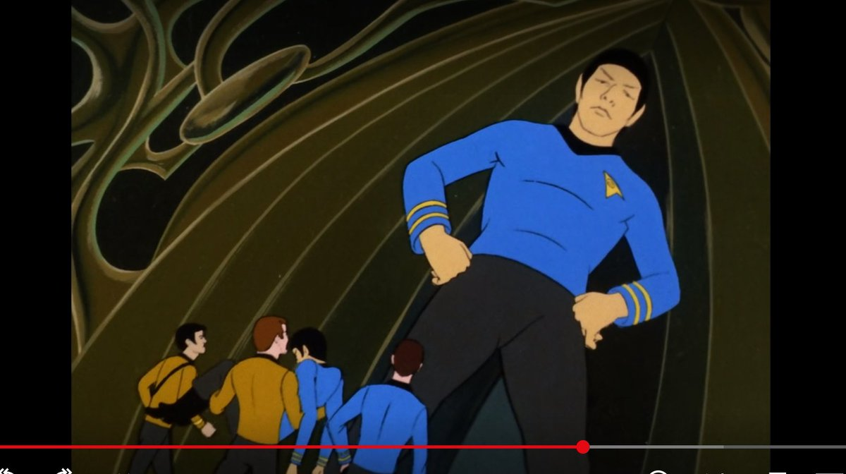 "star trek animated series: *evil guy kills spock* """