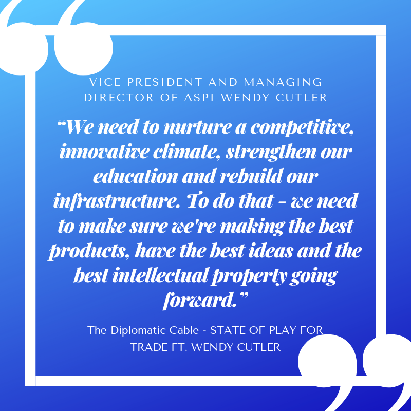 Thoughts from this weeks episode of @DiploCable, @JoaquinCastrotx talks the state of play for trade with @wendyscutler of @AsiaPolicy. Listen here: apple.co/2X1utPV