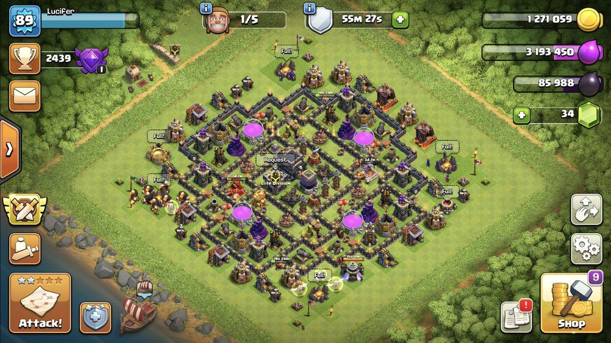 Th9 Dark Elixir Farming Base Link 2