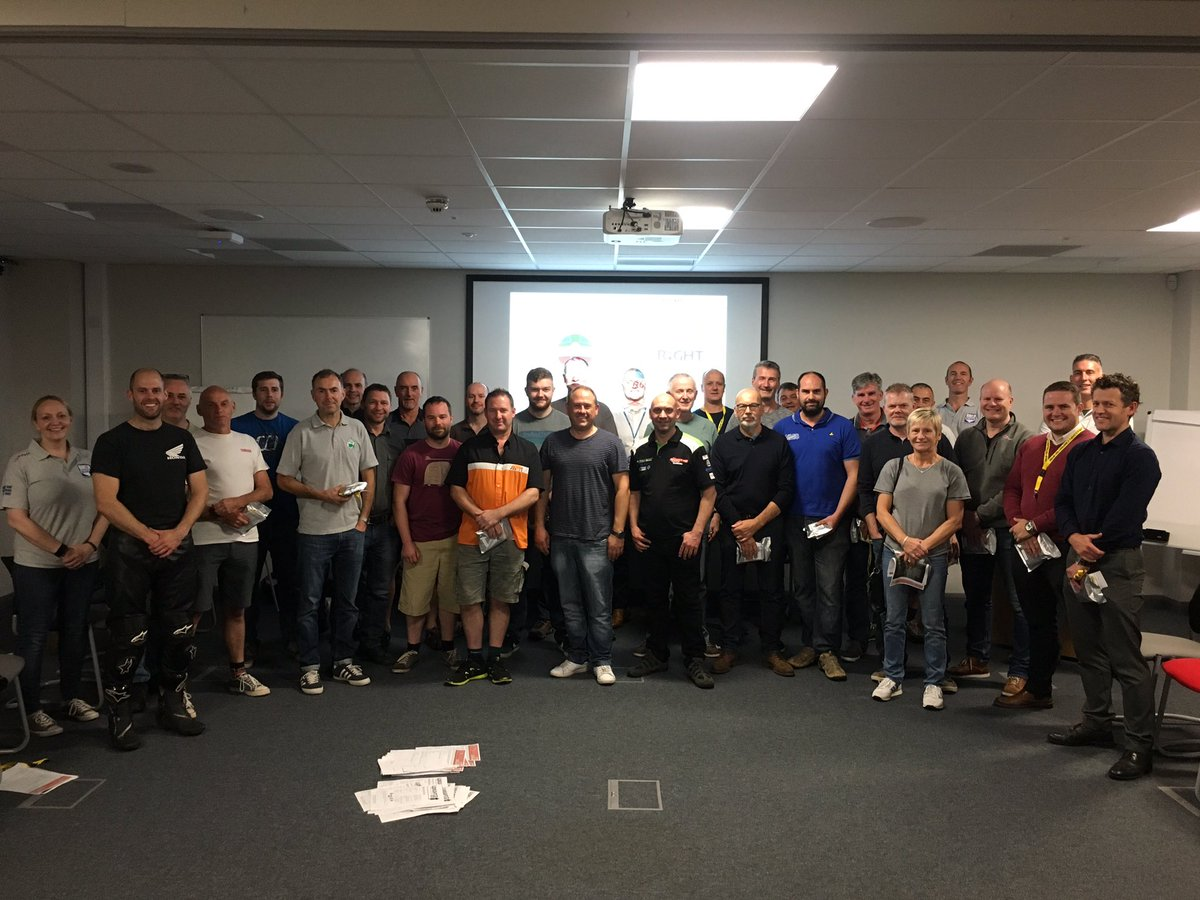 A great turnout by TRF motorcycle group to our recent Biker Down course at Ripley.