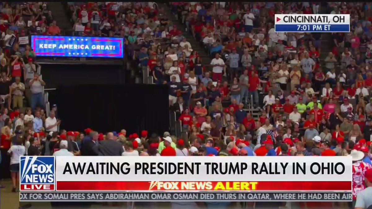 President Trump's rally in Cincinnati is set to begin shortly. Follow along for a video thread.