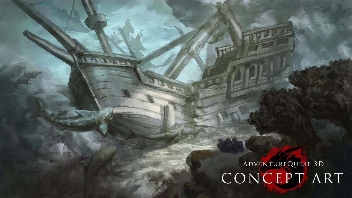 Sunken ship concept art! https://aq3d com/news
