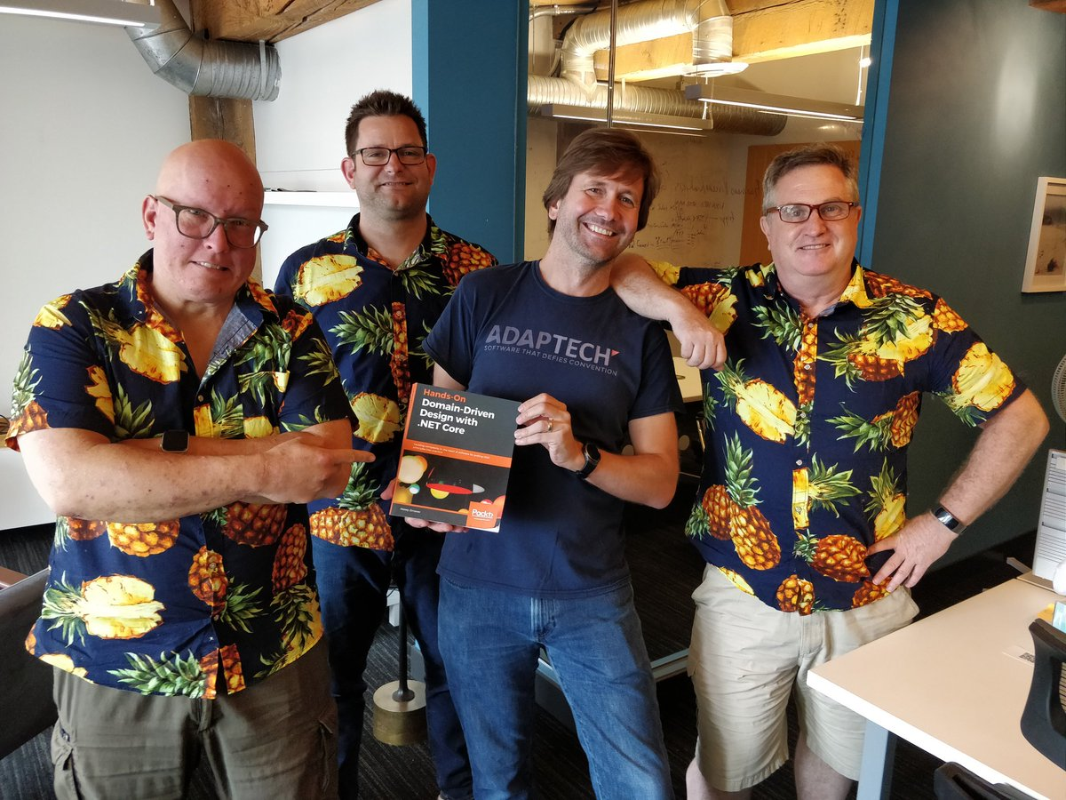 Happy to discover that when I returned from my travels, the developers have each bought @Zimareff's excellent book! A must have on the desk if you're a programmer! 🤓  Also, we obviously love🍍🍍🍍